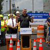 JAY YOUNG | THE GOSHEN NEWS<br /> Indiana governor Eric Holcomb speaks about state-wide infrastructure projects, including the rerouting of U.S. 33 in Goshen Monday afternoon.