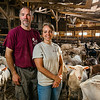 JAY YOUNG | THE GOSHEN NEWS<br /> Tim and Karmen Clark at their goat farm east of Goshen.