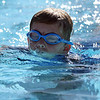 JAY YOUNG | THE GOSHEN NEWS<br /> Jack Estep, of Middlebury, keeps his head above water as he swims 25 yards during the 13th annual Kids' & Teens' Try-Athlon hosted by the Goshen Parks and Recreation Department at Shanklin Park Saturday morning.