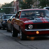 JAY YOUNG | THE GOSHEN NEWS<br /> Cars line up on Main Street during the July First Fridays Cruisin' Reunion in downtown Goshen Friday evening.