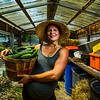 JAY YOUNG   THE GOSHEN NEWS<br /> Nicole Bauman helped transform a vacant lot on Cleveland Street in Elkhart into a thriving urban farm that grows multiple varieties of vegetables.