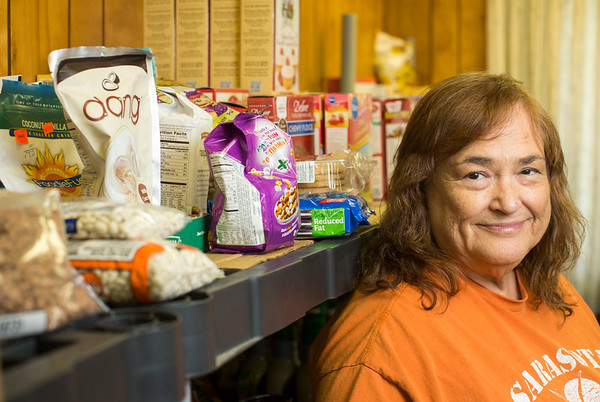 JAY YOUNG | THE GOSHEN NEWS<br /> Sandi Sizemore runs the Fairfield Food Pantry. It services families that reside within the Fairfield school district.