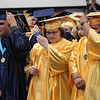 Roger Schneider | The Goshen News<br /> Fairfield seniors turn their tassels Sunday afternoon after they were pronounced graduates.