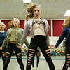 JAY YOUNG | THE GOSHEN NEWS<br /> Concord High School dance team members, from left, Savonnah Herring, Shelby Taylor, Courtney Kemp and Ellie Griffin run through their routine on Thursday afternoon at the school.