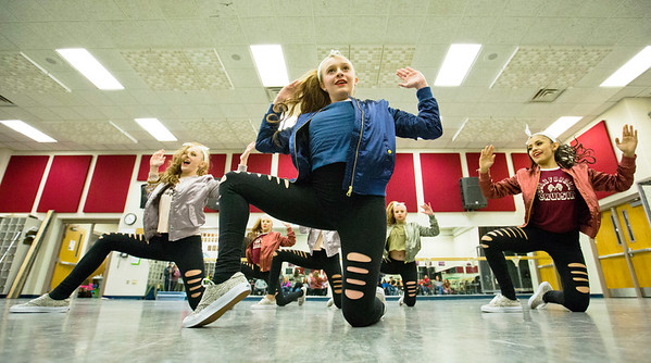 JAY YOUNG | THE GOSHEN NEWS<br /> Concord High School dance team members Savonnah Herring, right and Myha Hall run through their hip hop dance routine on Thursday afternoon at the school. The team is traveling to Chicago to take part in the Tremaine Dance Convention and Competition.