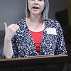 JAY YOUNG | THE GOSHEN NEWS<br /> Emily Herriott, director of Triple P, talks about the Triple P program on Monday afternoon at River of Life Community Church. Triple P, which stands for Positive Parenting Program, is a program that teaches parenting strategies.
