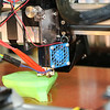 SHERRY VAN ARSDALL | THE GOSHEN NEWS A 3D printer making an object during the Midwest RepRap Festival at the Elkhart County Fairgrounds Saturday.