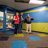JAY YOUNG | THE GOSHEN NEWS<br /> Kevin Deary, right, executive director of the Boys and Girls Club takes Mark and Kathy Mow on a tour of the club that is currently under renovations.