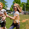 JAY YOUNG | THE GOSHEN NEWS<br /> Third-graders Erin Chupp, left, and Theia Bethel speed through the orange color station together.