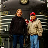 JAY YOUNG | THE GOSHEN NEWS<br /> Sean Waffle, left, and his father Bill have a long family history involving the railroad. The pair are third and fourth generation railroaders.
