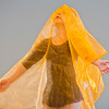 JAY YOUNG | THE GOSHEN NEWS<br /> Taryn Gosztola wraps herself up in a yellow scarf as she practices dancing during a Kinderdance class Wednesday evening at Epic Dance Studios.