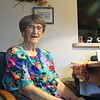 GEOFF LESAR | THE GOSHEN NEWS<br /> <br /> Mary Mishler, a resident at Greencroft Communities in Goshen, poses inside her residence Tuesday afternoon. Mishler was present for the Rev. Dr. Martin Luther King Jr.'s March 1960 speech at Goshen College.