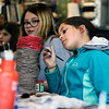 LEANDRA BEABOUT | THE GOSHEN NEWS<br /> Penelope Jimenez, 9, of Goshen, paints a ceramic pot at Goshen Youth Arts' Spring Break Camp. The camp, taught by ceramic artist Taylor Emery, will last until Friday.