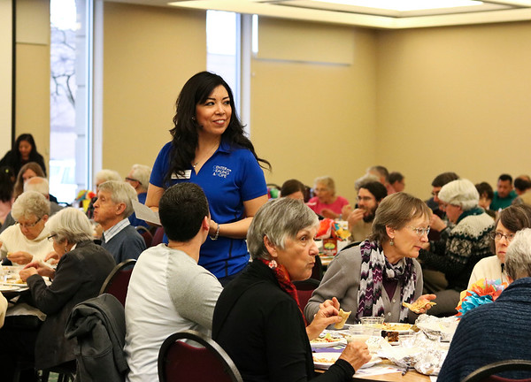 LEANDRA BEABOUT | THE GOSHEN NEWS<br /> Yolo López Pérez of the Center for Healing & Hope led the presentation at the organization's annual Fiesta Feast fundraiser.