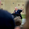 BEN MIKESELL | THE GOSHEN NEWS<br /> Elkhart County Council President John Letherman speaks during the ground breaking ceremony for the Elkhart County Juvenile Detention and Intake Center Tuesday at the Elkhart County Corrections Complex.