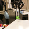 LEANDRA BEABOUT | THE GOSHEN NEWS<br /> This robot displayed at Indiana Tech's first Technology Day could pick up small items and place them on a conveyer belt.