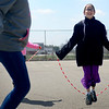 BEN MIKESELL | THE GOSHEN NEWS<br /> Fourth-grade student Lynette Miller jumps rope during recess Thursday at Shipshewana Scott Elementary School.