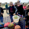 BEN MIKESELL | THE GOSHEN NEWS<br /> After recess is over, fourth-grade students at Shipshewana Scott Elementary put their jump ropes back into the cart with the rest of the basketballs.
