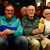 BEN MIKESELL | THE GOSHEN NEWS<br /> David Ostergren, left, Goshen, sits with Glen and Marilyn Miller, Goshen.