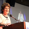 SHEILA SELMAN | THE GOSHEN NEWS<br /> Indiana 2nd District Congresswoman Jackie Walorski speaks to members of the RV industry at the sixth annual RV Industry Power Breakfast at the Northern Indiana Event Center in Elkhart Thursday morning.