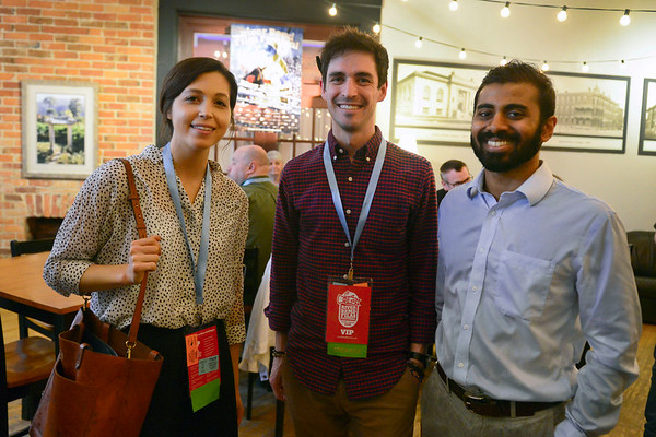 BEN MIKESELL | THE GOSHEN NEWS<br /> Genevieve Crum, left, Will Cernanec, center, and Dale Lobo, all from South Bend.