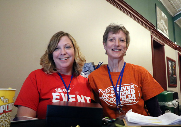 GEOFF LESAR | THE GOSHEN NEWS<br /> <br /> Shannon Smith, left, and Beth Bontrager, both of Goshen