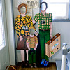 BEN MIKESELL | THE GOSHEN NEWS<br /> Cutouts created by artist Linda Pieri can be found around her house in Middlebury. She plans on taking the cutouts to various places around town in May, as part of Middlebury Then & Now's project called Faces of Middlebury.