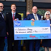 BEN MIKESELL | THE GOSHEN NEWS<br /> The Salvation Army received $1,000 during the grand reopening of the Kroger store Wednesday morning in Goshen.