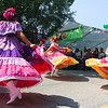 LEANDRA BEABOUT | THE GOSHEN NEWS<br /> Las Guadalupanas, a folkloric dance group, performed at the Goshen Farmers Market's third annual Salsa Festival.