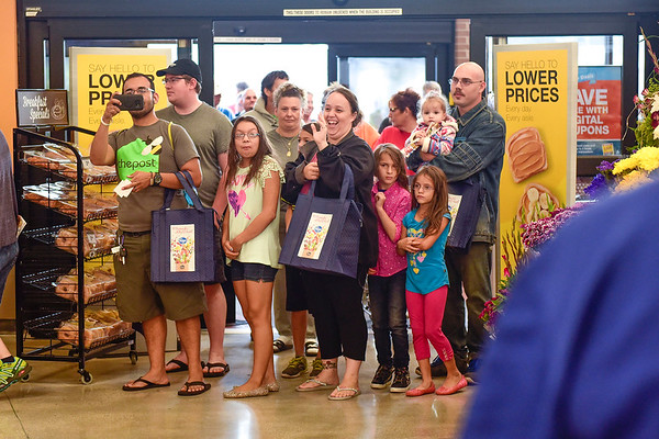 BEN MIKESELL | THE GOSHEN NEWS<br /> Customers are welcomed into the newly renovated Kroger store Wednesday morning in Goshen.