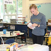 JOHN KLINE | THE GOSHEN NEWS<br /> Waterford Elementary School teacher Courtney Gordon busily works to get her room ready for the new school year during teacher prep last Thursday afternoon.