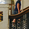 BEN MIKESELL | THE GOSHEN NEWS<br /> People head upstairs during a tour of the Elkhart County Courthouse Thursday morning in Goshen.