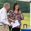 LEANDRA BEABOUT | THE GOSHEN NEWS<br /> Ronda DeCaire, director of Elkhart County Parks, speaks at the dedication ceremony for the future Corson County Park.