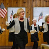 BEN MIKESELL | THE GOSHEN NEWS<br /> Vicky Davis dances with the senior tap-dancing group, The Rockerettes, during a celebration of National Senior Citizen Day Tuesday morning at McNaughton Park in Elkhart.