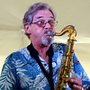 GEOFF LESAR | THE GOSHEN NEWS<br /> <br /> Saxophonist Craig Ridout, of Paul Decker and the Real Deal, performs Sunday during the 10th annual Taste of the Gardens at Wellfield Botanic Gardens in Elkhart.