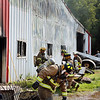 AIMEE AMBROSE | THE GOSHEN NEWS<br /> <br /> Fire destroyed the Marway Welding shop at a farm, 27097 C.R. 50, near Nappanee Monday morning.
