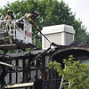 BEN MIKESELL | THE GOSHEN NEWS<br /> A fire at Old Farm Apartments on Friday caused about $100,000 total damage, according to report from Elkhart Fire Department. Twelve apartments were affected by the fire and their occupants were moved to other apartments in the complex.