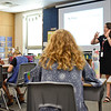 BEN MIKESELL | THE GOSHEN NEWS<br /> Sixth grade teacher Danielle Kolean gives instructions to her students on the first day of school Thursday afternoon at Jimtown Intermediate School.