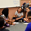 BEN MIKESELL | THE GOSHEN NEWS<br /> Students in Katherine Younghans' third grade class go through introductions for the first day of school Wednesday morning at Chandler Elementary School.