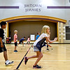BEN MIKESELL | THE GOSHEN NEWS<br /> Third graders in Matt Schausee's physical education class run through calisthenics drills during the first day of school Thursday afternoon at Jimtown Intermediate School.