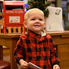 BEN MIKESELL | THE GOSHEN NEWS<br /> Hudson Martin, 1, Goshen, prepares to drop his letter to Santa in the mailbox at the Goshen Public Library. His parents are Chris and Gretchen.