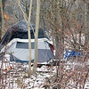 Roger Schneider | The Goshen News<br /> These tents are part of a homeless camp in a wooded area in Goshen. There are other such camps in the city.