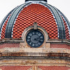 Roger Schneider| The Goshen News<br /> The clockface on the west side of the Elkhart County Courthouse is shown. The Elkhart County commissioners have approved funding to have the clocks in the courthouse tower renovated.