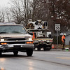 BEN MIKESELL | THE GOSHEN NEWS<br /> Vehicles drive down Kercher Road after the road reopened Monday morning after months of reconstruction. The speed limit has been temporarily lowered to 30 mph for the winter until the construction can be completed in the spring of 2019.