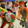 BEN MIKESELL | THE GOSHEN NEWS<br /> First-grader Jason Gonzales takes a swing at a piñata Thursday afternoon while celebrating Cultural Day at Waterford Elementary School. Throughout the day each grade at Waterford celebrated different culture's holiday traditions, including Mexican, Chinese, Ethiopian and Dutch, art teacher Jama Brookmyer Graber said.