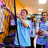 LEANDRA BEABOUT | THE GOSHEN NEWS<br /> Damon Ringer, Dawson O'Sullivan and Cody Mobarry enjoyed new arcade-style basketball hoops in the teen room at the Middlebury Boys & Girls Club.