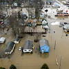 BEN MIKESELL | THE GOSHEN NEWS<br /> The area south of Pike Street in Goshen was flooded Wednesday, forcing many businesses to close and people to evacuate their homes.