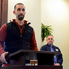 BEN MIKESELL | THE GOSHEN NEWS<br /> Goshen Mayor Jeremy Stutsman gives an update regarding flood levels around the city during a press conference Thursday afternoon at Goshen City Hall.