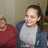 AIMEE AMBROSE | THE GOSHEN NEWS <br /> Doris Stanfill and her granddaughter Madison spent the morning and afternoon at First Baptist Church after they were evacuated from rising floodwaters at their home on North Indiana Avenue early Wednesday morning. The church opened as an impromptu sanctuary for those needing a place to stay during the flood.