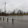 JOHN KLINE | THE GOSHEN NEWS<br /> High water can be seen at Rogers Park in Goshen Thursday. A flood warning was issued for the city Thursday afternoon after a system of heavy rainfall moved into the area early Thursday morning.